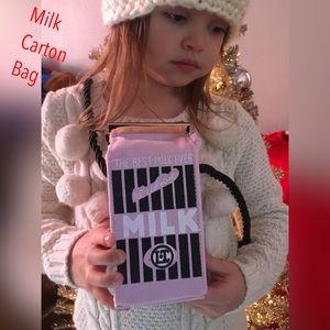 Other - Pink Milk Carton Bag